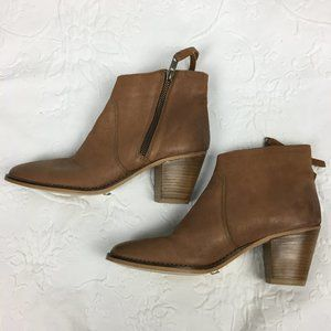 Urban Outfitters Brown Leather Ankle Boots Size 7